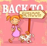 Terug naar school, Banners en Referenties, vectorillustratie Stock Afbeeldingen