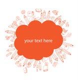 Terug naar school, Banners en Referenties, vectorillustratie Stock Afbeelding