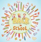 Terug naar school, Banners en Referenties, vectorillustratie Royalty-vrije Stock Fotografie
