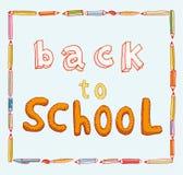 Terug naar school, Banners en Referenties, vectorillustratie Royalty-vrije Stock Foto's