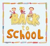Terug naar school, Banners en Referenties, vectorillustratie Royalty-vrije Stock Foto