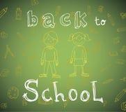 Terug naar school, Banners en Referenties, vectorillustratie Stock Fotografie