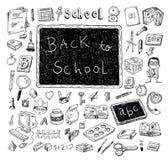 Terug naar school, Banners en Referenties, vectorillustratie Stock Foto's