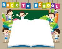 Terug naar school bigbook royalty-vrije illustratie