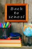 Terug naar School Boeken en schoolhulpmiddelen Royalty-vrije Stock Afbeelding