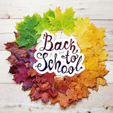 Terug naar School De herfst om frame Stock Afbeeldingen