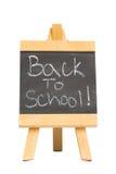 Terug naar school die op bord wordt geschreven Royalty-vrije Stock Foto