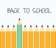Terug naar School Een reeks potloden op een achtergrond van notitieboekje Royalty-vrije Stock Foto