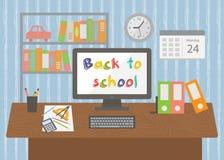 Terug naar School Het binnenland van de leerlingsruimte Stock Foto's