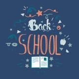 Terug naar school het van letters voorzien Stock Afbeelding