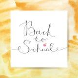 Terug naar school het van letters voorzien Royalty-vrije Stock Afbeeldingen