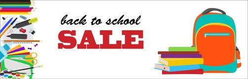 Terug naar school horizontale banner Royalty-vrije Stock Foto