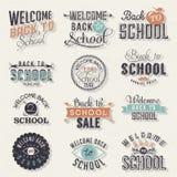 Terug naar School Kalligrafisch Ontwerp Stock Afbeeldingen