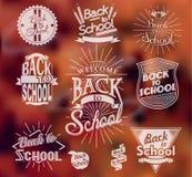 Terug naar School kalligrafische ontwerpen Stock Foto's