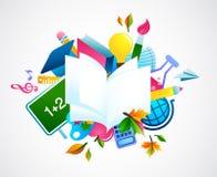 Terug naar school - kleurrijke achtergrond Stock Foto