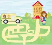 Terug naar school - labyrint Stock Afbeelding