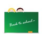 Terug naar school met kinderenvector Stock Foto
