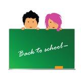 Terug naar school met kinderenvector Stock Foto's
