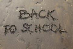 Terug naar School op het strand Stock Afbeelding