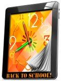 Terug naar School op PC van de Tablet vector illustratie