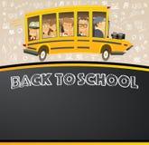 Terug naar School op Zwart Schoolbord Stock Fotografie