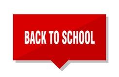 Terug naar school rode markering Royalty-vrije Stock Foto
