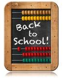 Terug naar School - Telraam en Bord stock illustratie