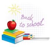 Terug naar school (vectorillustratie) Royalty-vrije Stock Foto
