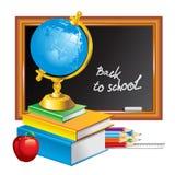 Terug naar school (vectorillustratie) royalty-vrije illustratie