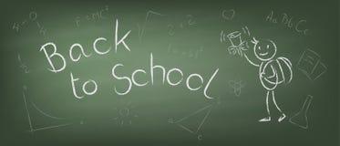 Terug naar school vectorillustratie Stock Foto