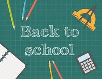 Terug naar school, vectorillustratie Stock Fotografie
