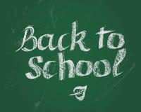 Terug naar School Vectorkrijt het van letters voorzien uitdrukkingen voor nieuw stading jaar Stock Afbeeldingen