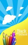 Terug naar schoolachtergrond Stock Foto