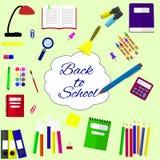 Terug naar schoolachtergrond, vectorillustratie stock illustratie