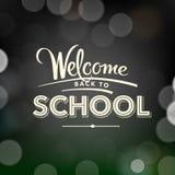Terug naar schoolaffiche met tekst op bord Royalty-vrije Stock Foto