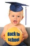 Terug naar schoolbaby stock foto