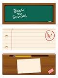 Terug naar schoolbanners Stock Foto's