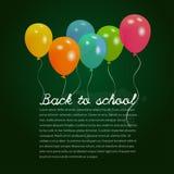 Terug naar schoolillustratie Stock Foto