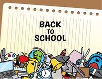 Terug naar schoolillustratie Stock Afbeeldingen