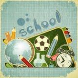 Terug naar schoolkaart Royalty-vrije Stock Foto's