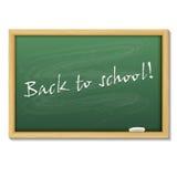 Terug naar schoolkaart of achtergrond Stock Fotografie