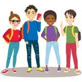 Terug naar Schoolstudenten vector illustratie