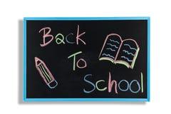 Terug naar schooltekst op bord Stock Foto's