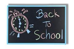 Terug naar schooltekst op bord Stock Foto