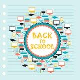 Terug naar schoolvector Stock Foto's
