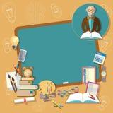 Terug naar van de de schoolraad van het schoolonderwijs de professorsleraar Stock Foto's