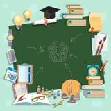 Terug naar van het de raadsonderwijs van de schoolschool het klaslokaal van de de universiteitscampus Stock Fotografie