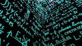 Terug naar wiskunde royalty-vrije stock fotografie