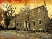 Terug op tijd aan Robert E Lee ` s Boyhood Huis stock afbeelding