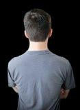 Terug van de jonge mens Stock Foto